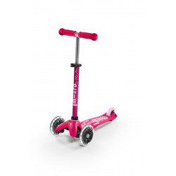 Patinete Micro Mini Deluxe Rosa LED - MMD075